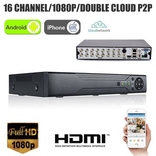Mengqi✨XVR 16CH Channel 5in1 CCTV Video Recorder 1080P