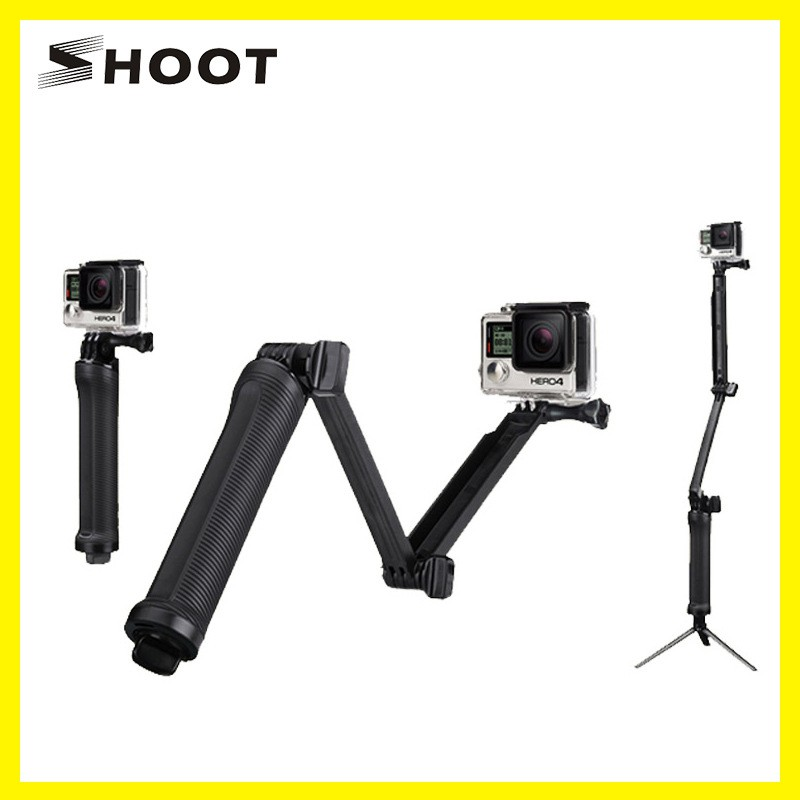 579a6515696e14 TELESIN Waterproof Selfie Stick , 3-Way Grip Arm Monopod Gopro pole for  Gopro hero 7/ 6 / 5 Black | Shopee Singapore