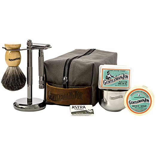 Gentleman Jon Deluxe Wet Shave Kit | Includes 8 Items - USA Best Grooming  Kit