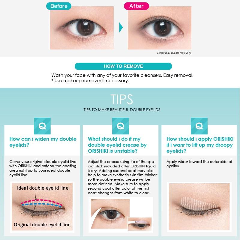 Dup Orishiki Eyelid Skin Film   Shopee Singapore