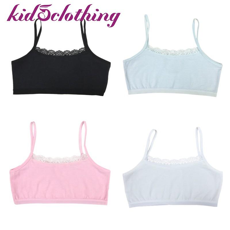 95ae72d5af9 Teens Girls Training Bra Underwear Cotton Lace Sport Bras