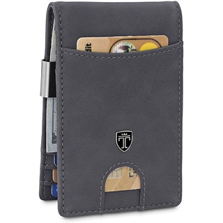 TRAVANDO ® Credit Card Holder with Money ClipRFID Blocking WalletSlim 