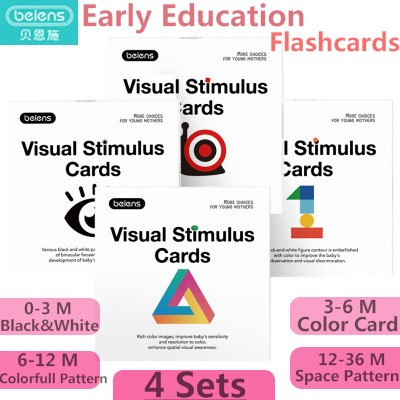 Beiens Baby Visual Stimulation Card 4sets/80pc Infant ...