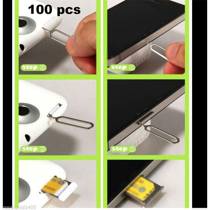 100X Tray Remove Eject Ejector Pin Key Tool for iPhone PHONE