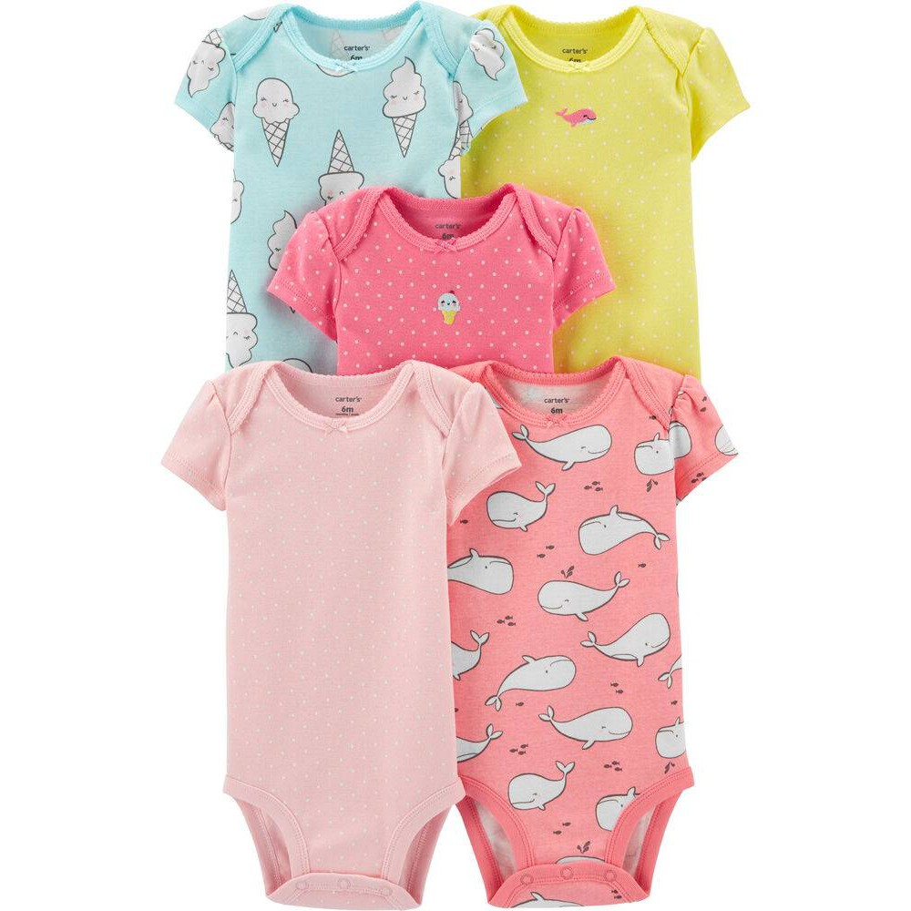 Carters Baby Girls Cotton Tank Romper Watermelon