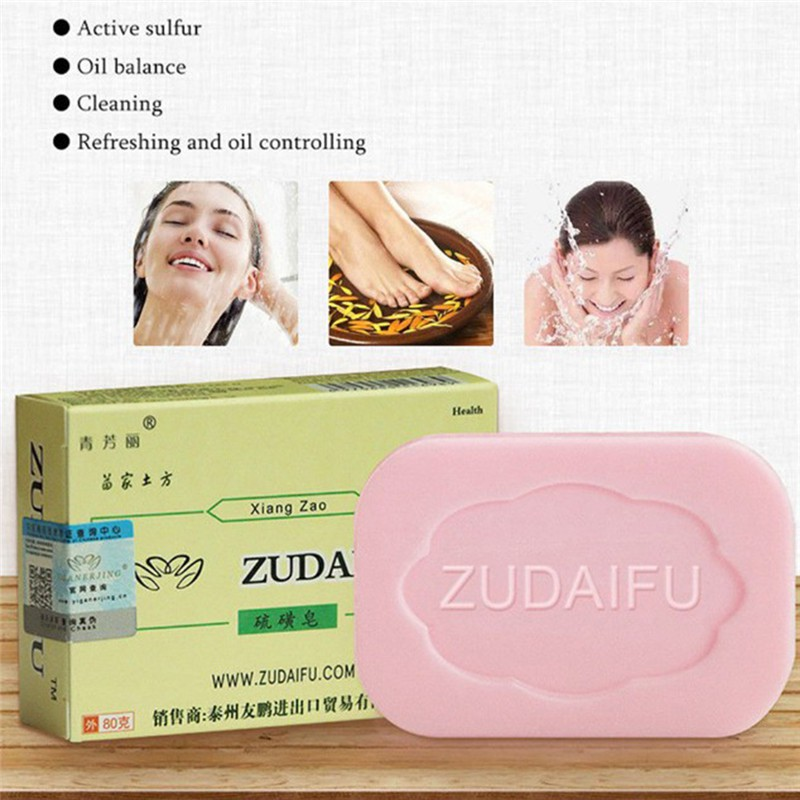 1pc Drug Bactericidal Sulphur Soap Skin Care Dermatitis Fungus Eczema Anti Bacteria Fungus Shower Bath Washing Whitening Soaps Top Watermelons Bath & Shower Soap