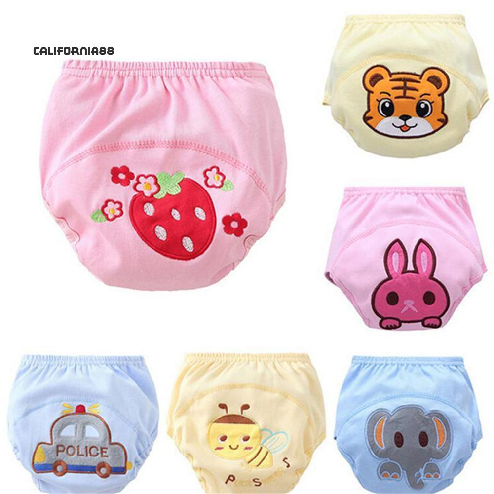Toddler Baby Kid Cotton Animal Cloth Waterproof Pull On Up Potty Training Pants!