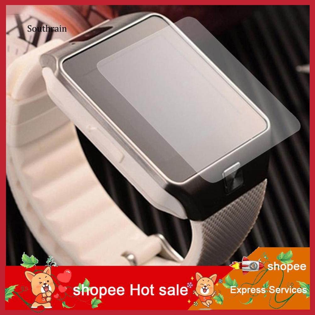 STRN_3Pcs HD Clear LCD Screen Protector Protective Film for U8 Bluetooth  Smart Watch
