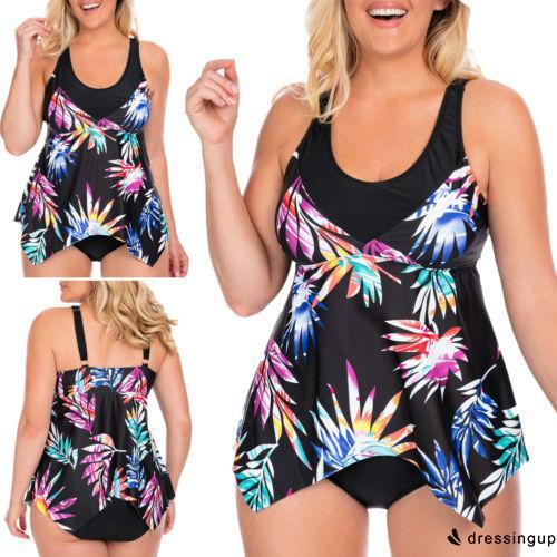 best buy popular outlet d❃♪Womens Plus size Printed One-Piece Swimwear Thong Swimsuit Leotard