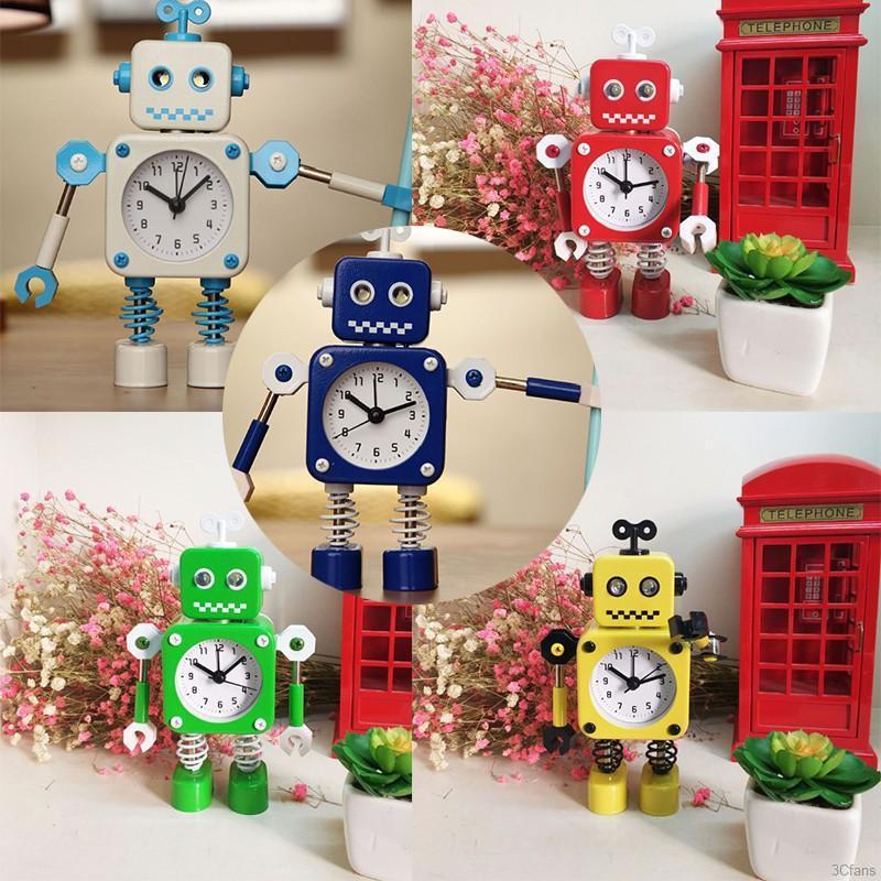Goodhome Novelty Cartoon Winder Smart Robot Led Projection Alarm Clock Image Display Digital Clocks Shopee Singapore