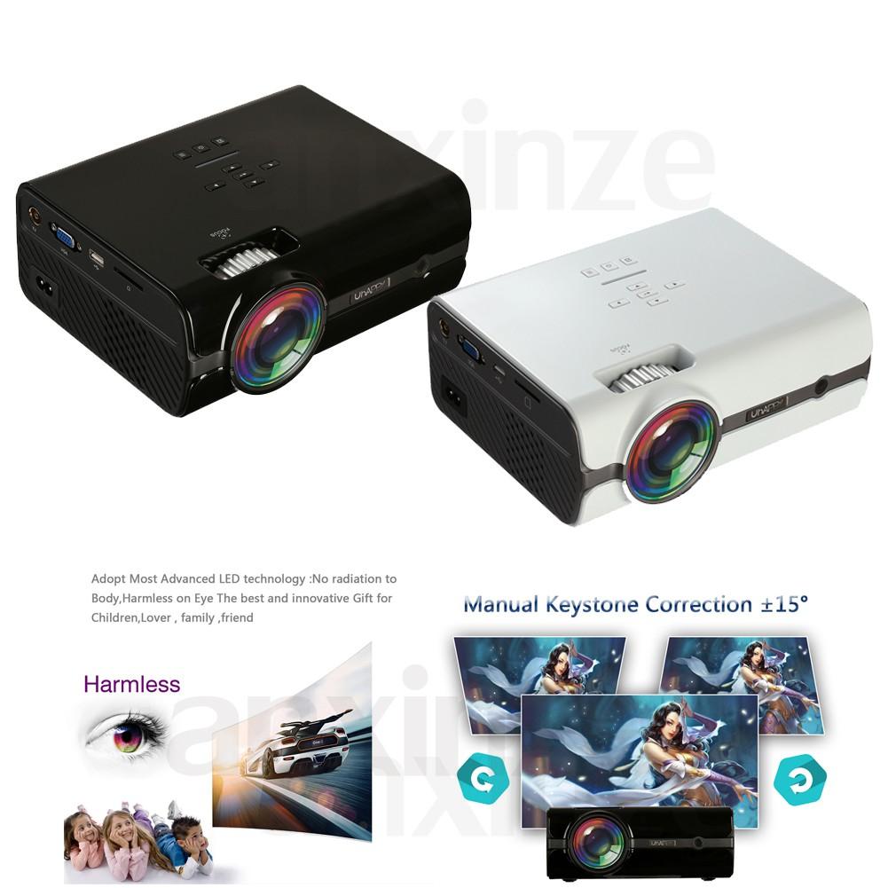 LED HD Mini Projector with TV/AV/VGA/HDMI/TF/USB Ports UHAPPY U45 800x480