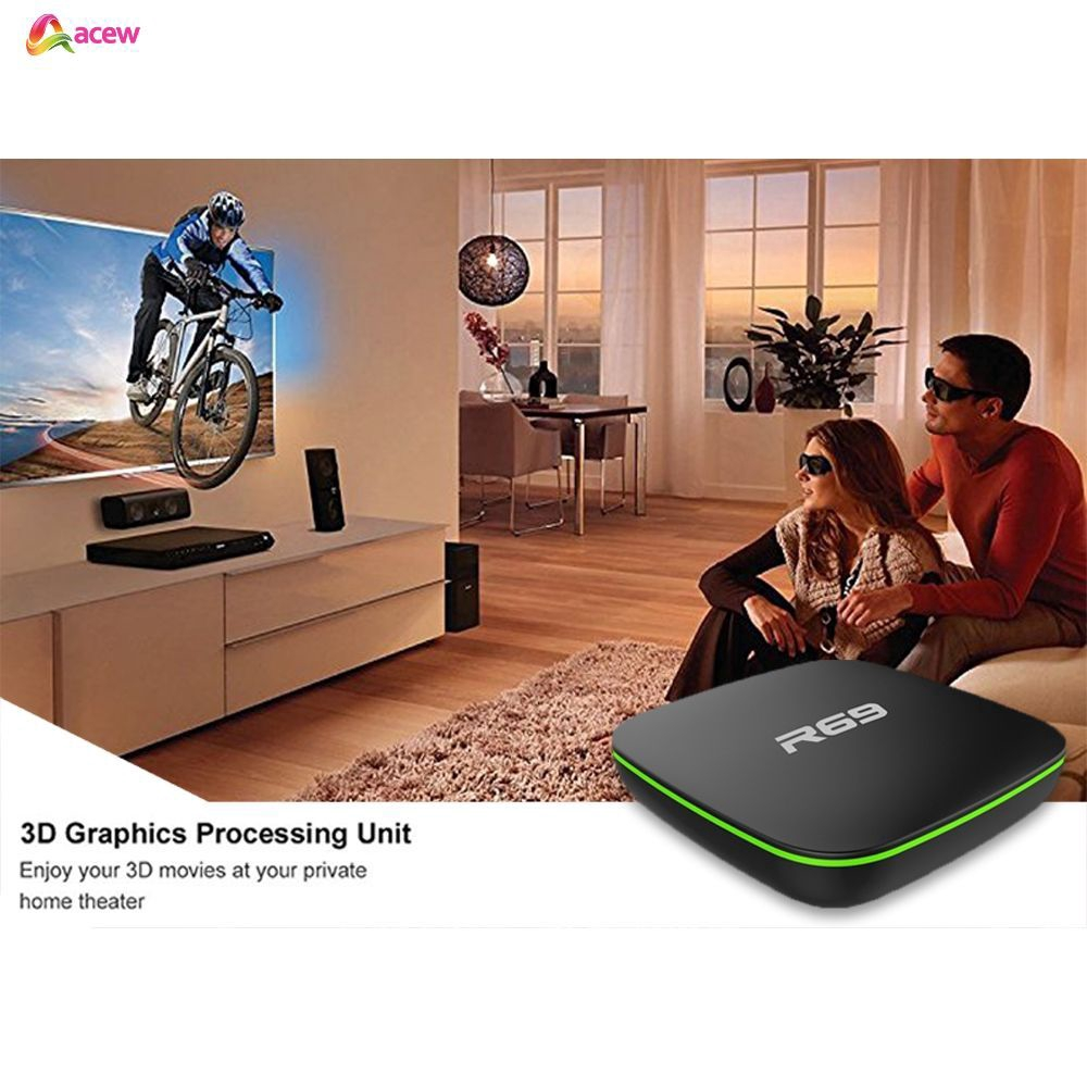 2019 R69 Android 7.1 Smart TV Box Quad Core WIFI H.265 4K 3D ...