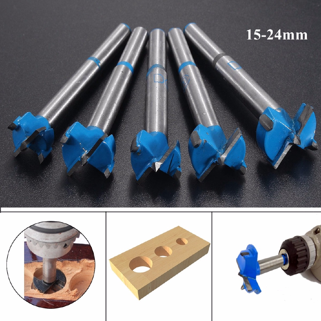 24mm Forstner Cemented Carbide Woodwork Boring Wood Hole Saw Cutter Drill Bit