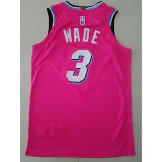 reputable site 69868 e3d5e NBA 17-18 season HOT #3 WADE basketball jerseys TOP PINK ...