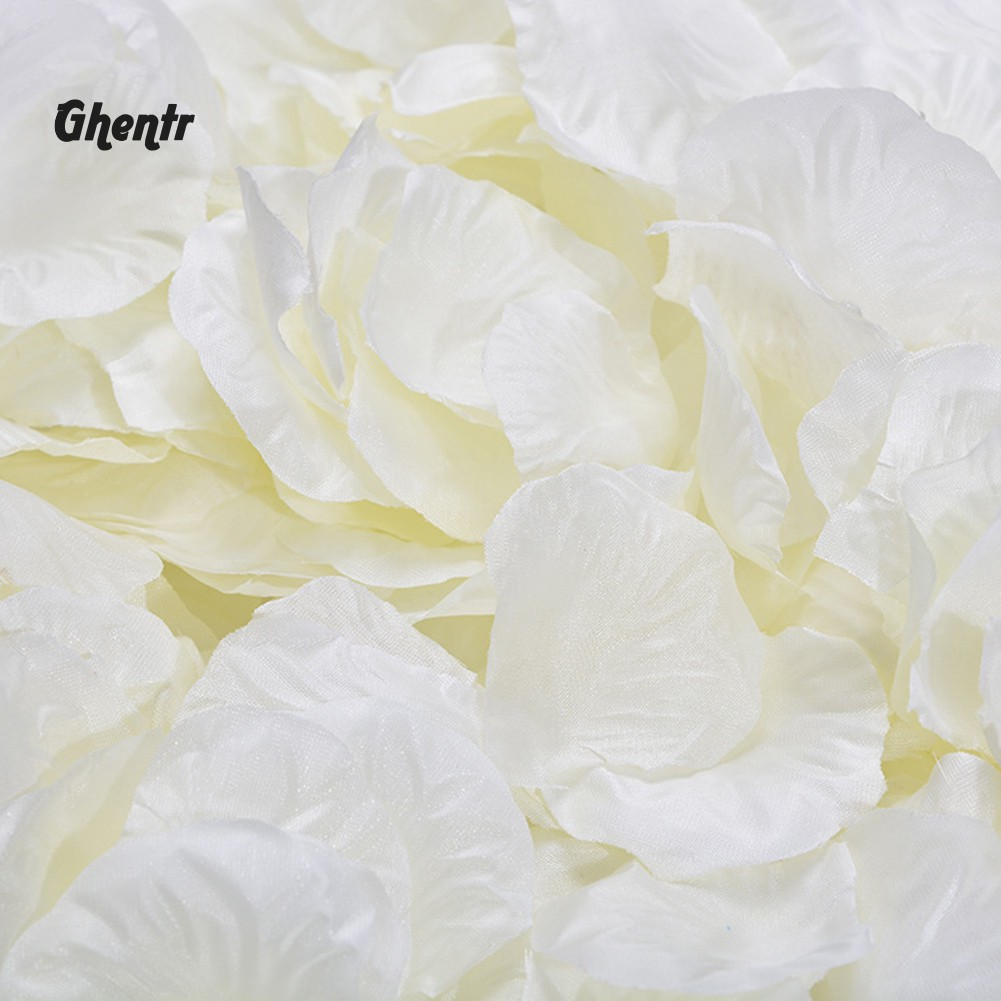 100 X Ivory Silk Rose Petals Confetti Wedding Anniversary Engagement Decoration