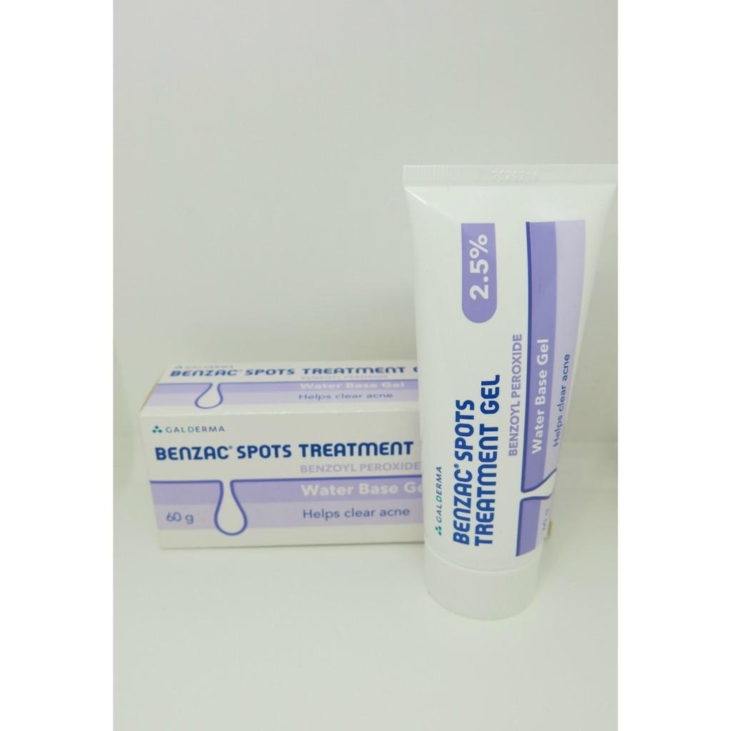 Galderma 2 5% Benzoyl Peroxide Benzac Spots Acne Treatment Gel 60 grams
