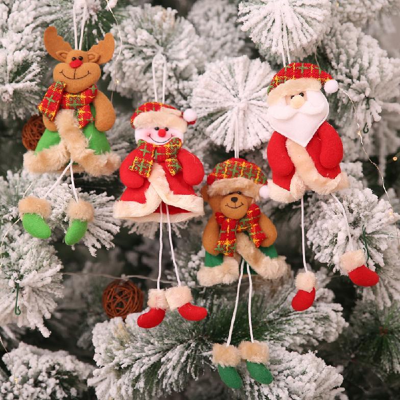 Christmas Tree Toys Decoration.Christmas Tree Pendant Doll Old Man Snowman Scene Dress Up Hanging Christmas New Decorations