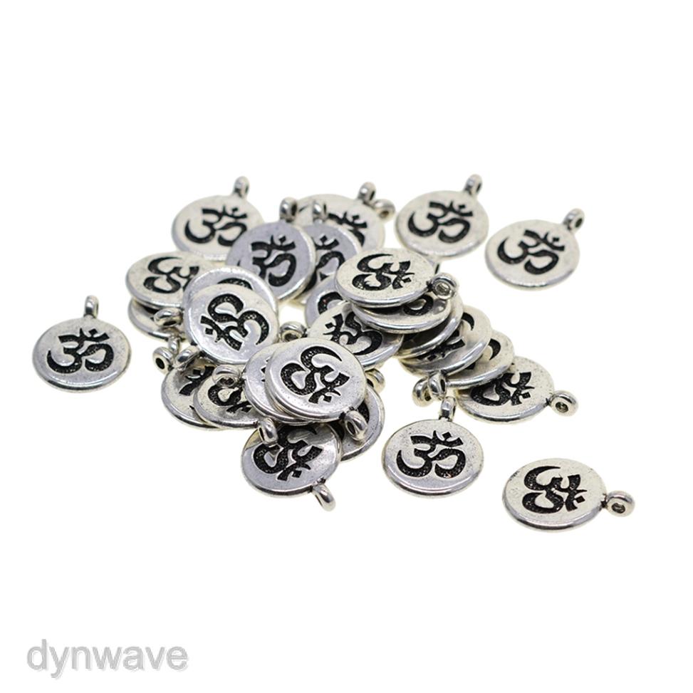 30 Pcs Tibetan Silver Lotus Flower Necklace Pendants DIY Charms Connectors