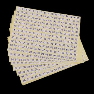 24 Labels Per A4 Sheet 2XSelf-Adhesive Round Labels