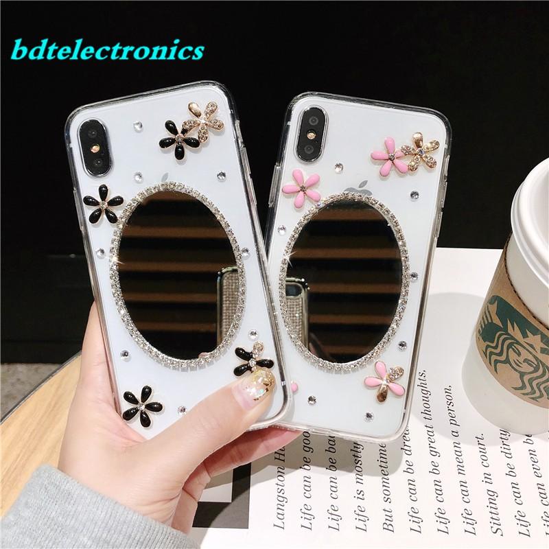 💋Huawei Nova 4 3 3i 2i 2 Lite Floral Mirror Soft Case