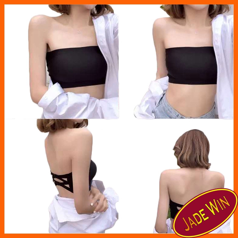 Women Tube Top Underwear Strapless Breathable Seamless Stretch Invisible Bra FB