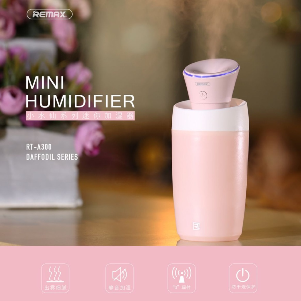Remax Humidifier With Preserved Fresh Flower Rt A700 Shopee Singapore Mini Fan Portable Wireless Aromatheraphy Original Sky Blue Biru