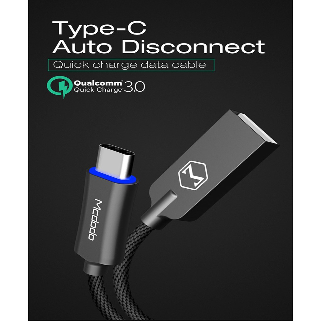 Mcdodo Knight Series 18m Nylon Braided Auto Disconnect Lightning Cable Charger Iphone Charging Shopee Singapore