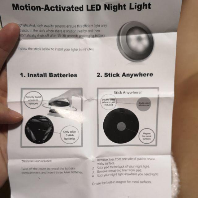 Wireless 6 LED Light Motion Activated Sensor Indoor Battery