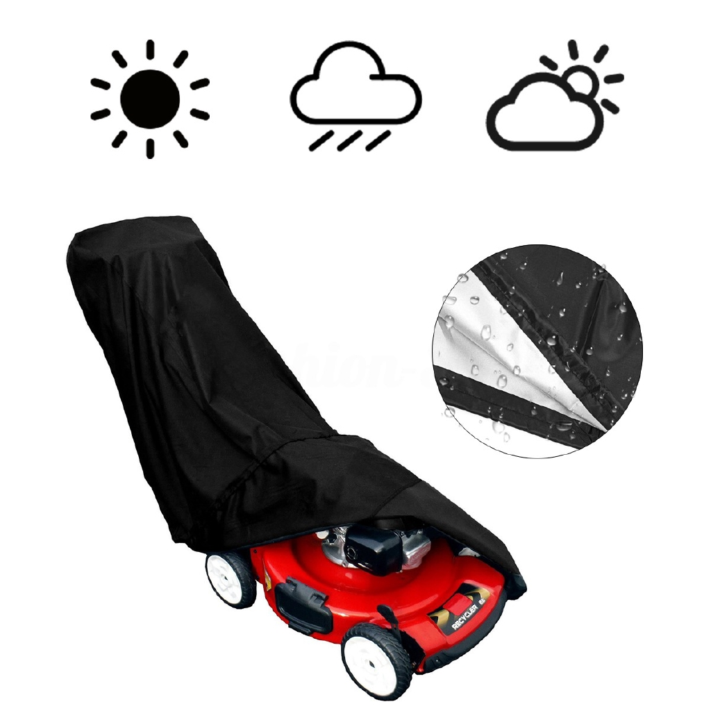 1 Pcs Lawn Mower Cover Dust Rain Protector Garden Outdoor Storage Waterproof UK