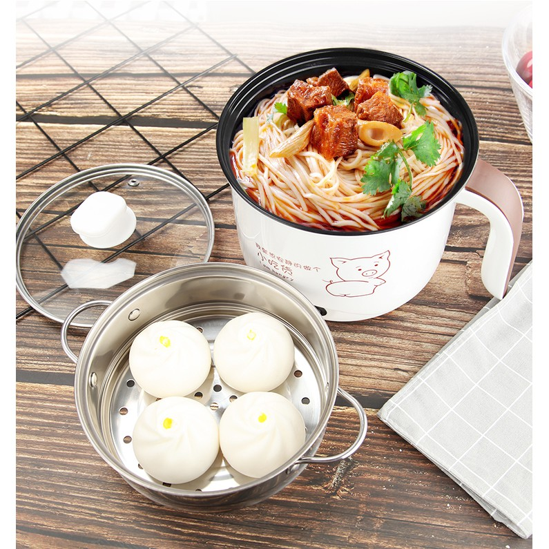 Multifunctional mini bedroom cooking noodles electric skillet electric  cooker