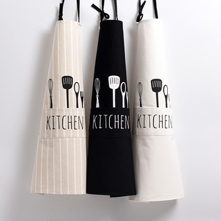 Nordic spoon fork cotton fabric apron coffee bakery kitchen