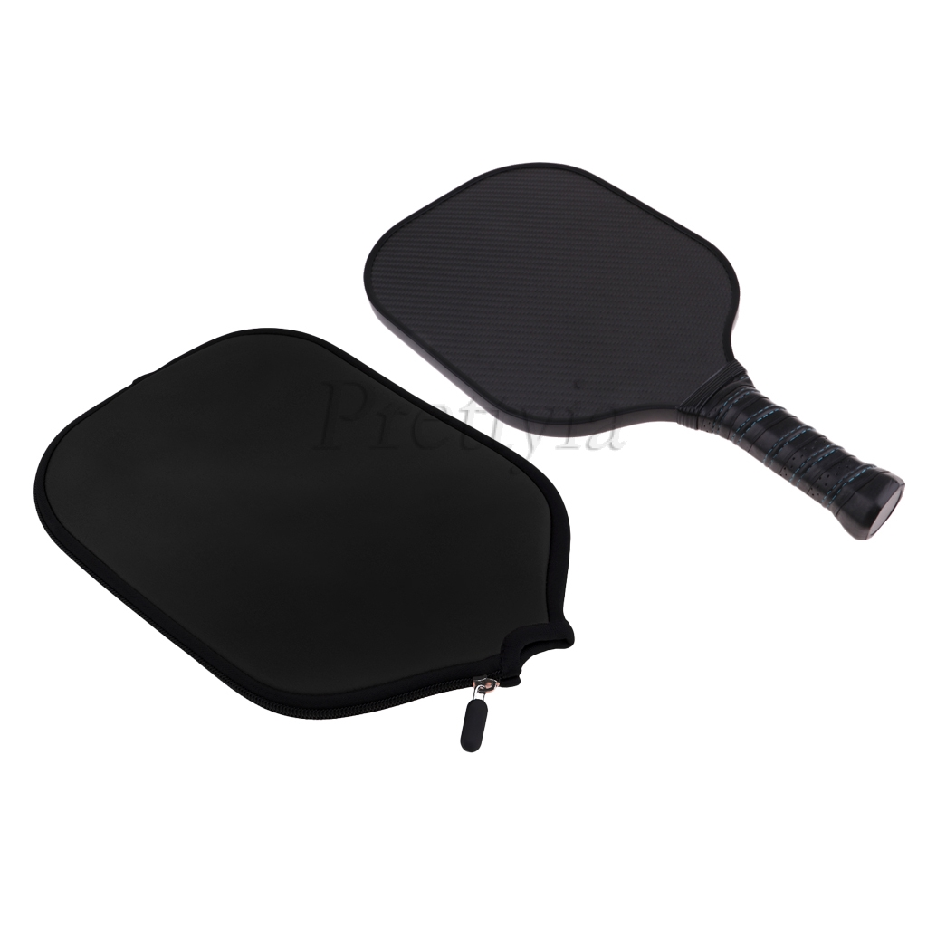 Premium Black Carbon Fiber Honeycomb Composite Core Single Pickleball Paddle