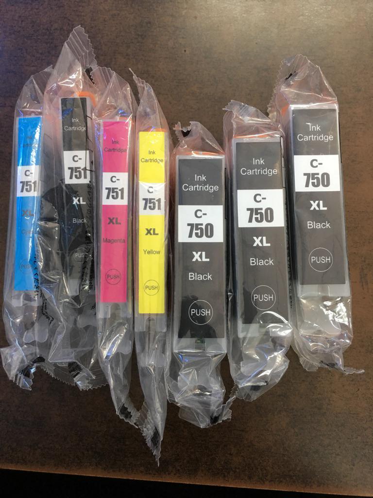 Canon Pgi 750xl Cli 751xl Printer Ink Cartridge Compatible Black 2018 02 22 1902 750
