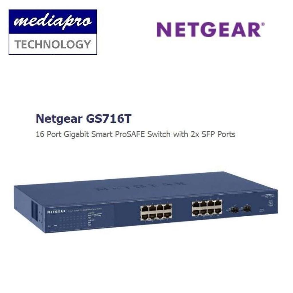 Netgear GS716T 16 Port Gigabit Smart ProSAFE Switch