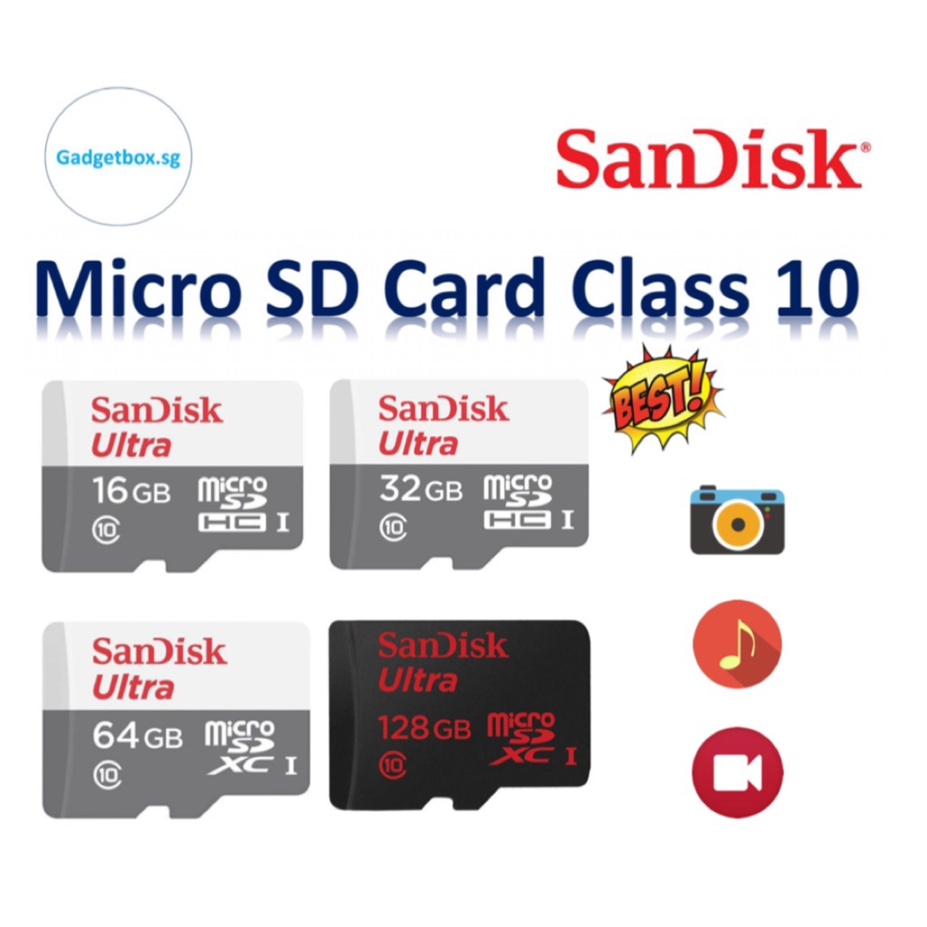 Sandisk class 10 SD micro TF card