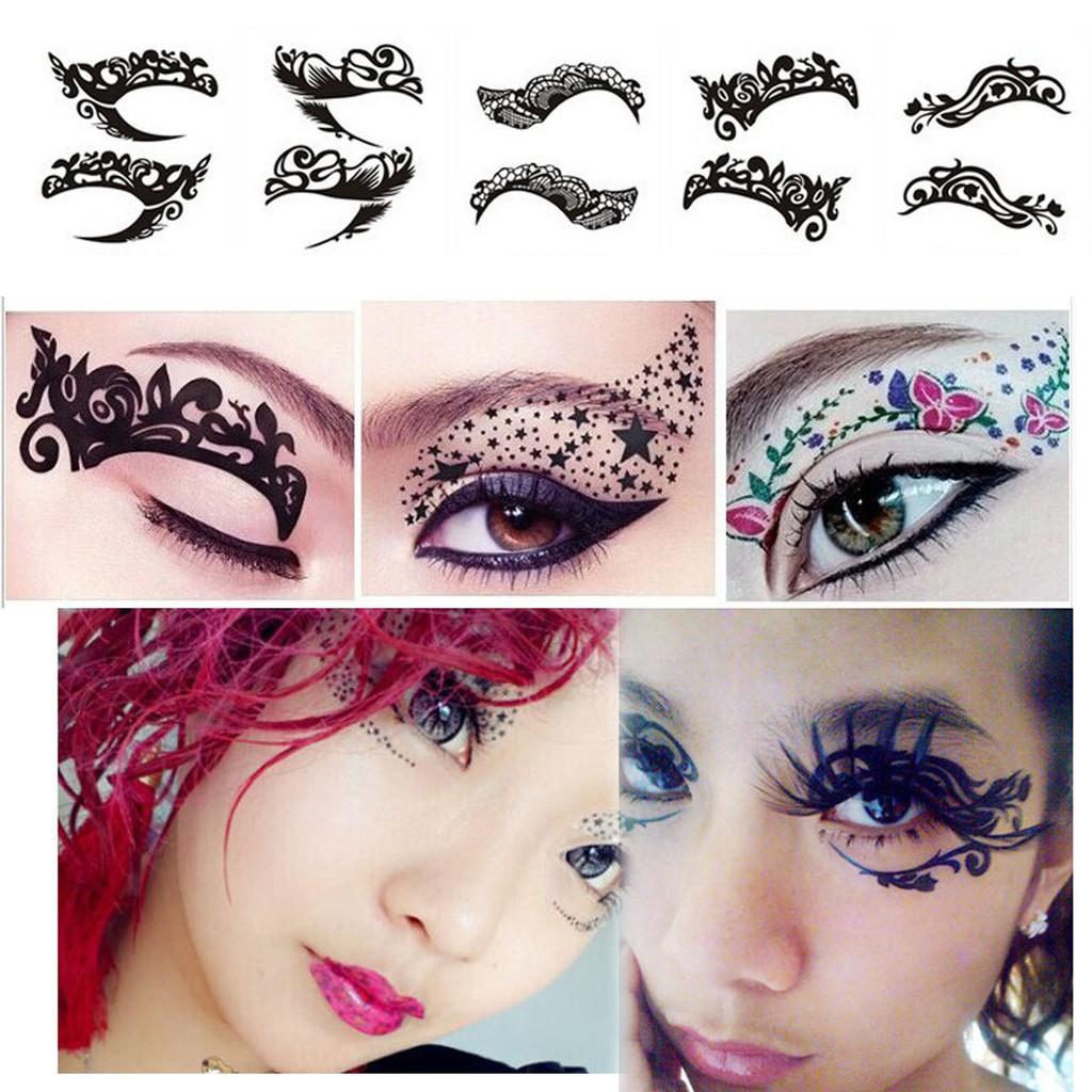 Temporary Eye Tattoo Eyeshadow Eyeliner