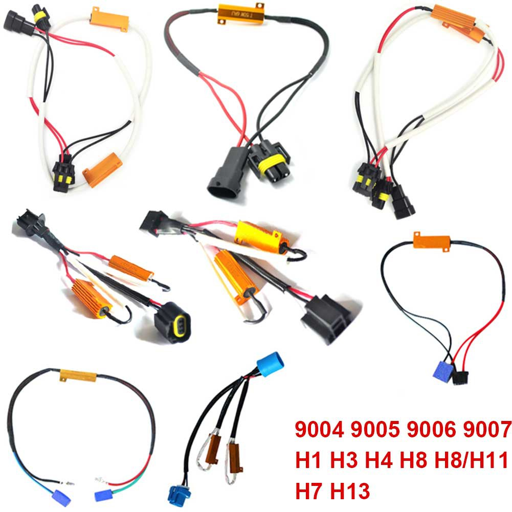 Car Hid Decoder Canbus Fog Light Load Resistor No Flickering Warning 12v H11 Led Lamp Wiring Canceller Shopee Singapore