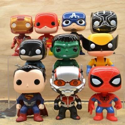 10 Iron Man Demolition Captain Spider-Man Black Widow Hawk Eye Steel Pop  Toy Toy