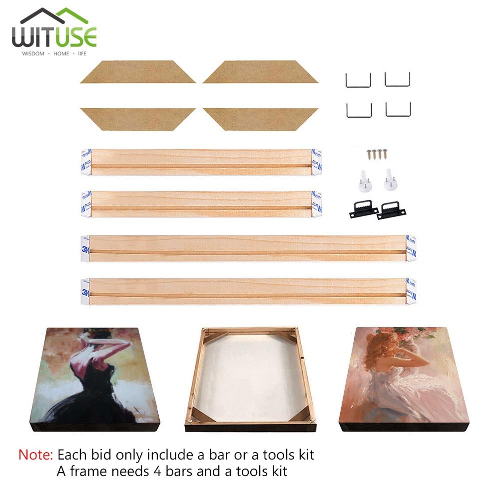 DIY Sturdy Frame Wood Bar Stretcher Strip For Canvas Prints Gallery Wall Art 40