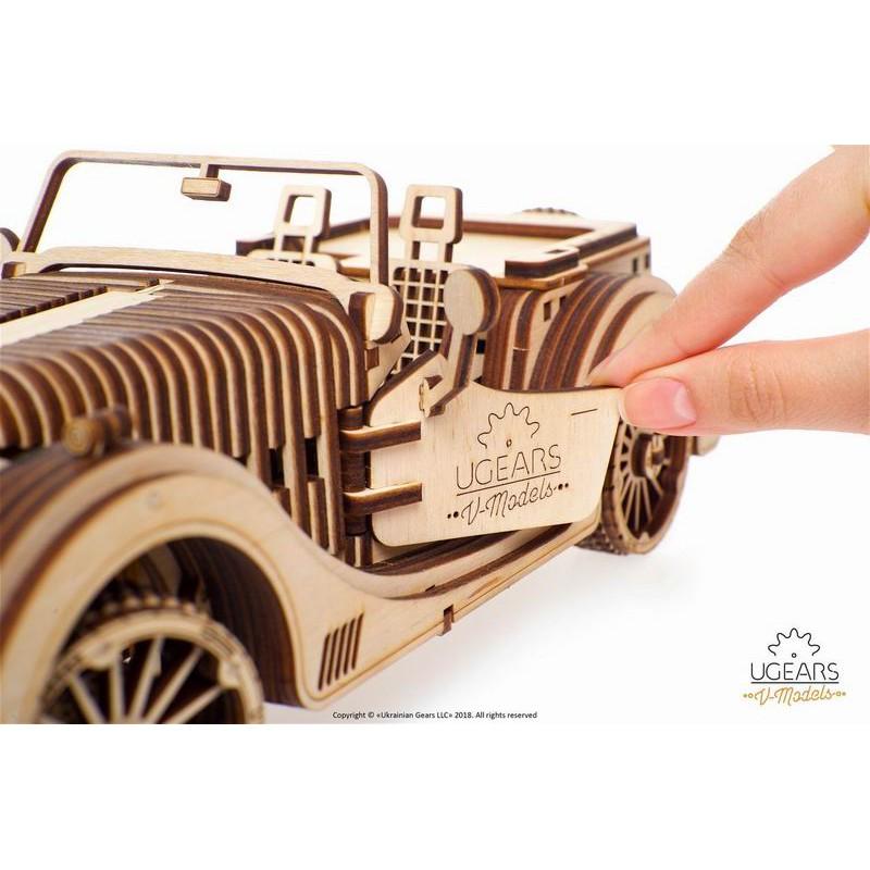 Ugears Distributor ☆ VM-01 Roadster Sports Car Model Kit