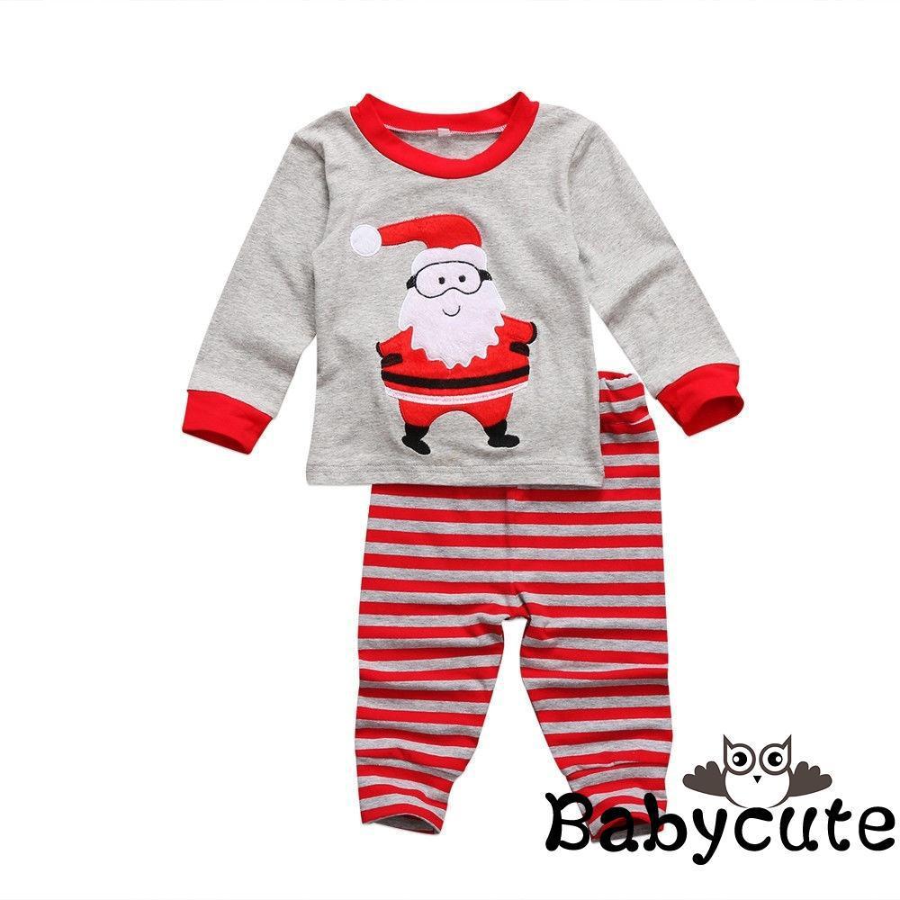 fa490cd4b ✪B-BCute Christmas Clothes Kids Boys Girls Xmas Santa Claus ...