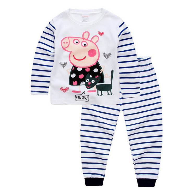 861d19fe2c90 Baby Kids Girls Hello Kitty Bear Pajamas Set Pyjamas Sleepwear KT ...