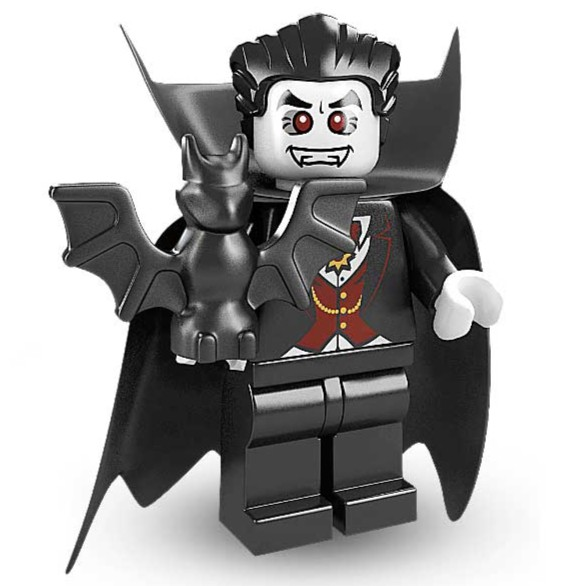 Pack of 4 Black Vampire Dracula Capes for Lego Minifigs NEW 4 x