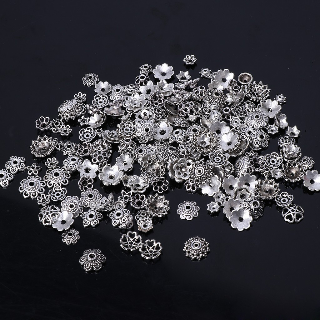 150pcs  CUTE DAISY METAL  4mm  SPACER BEADS