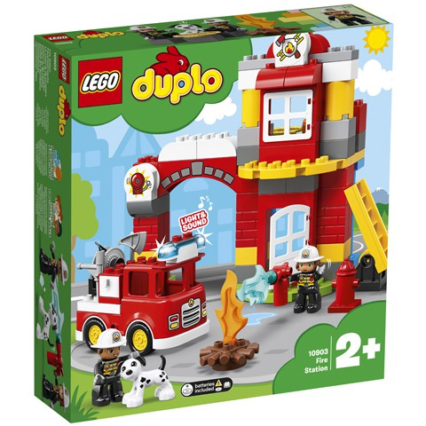 Building Blocks For Kids Fun Learning Toys DUPLO Town Fire Truck Kit Birthday