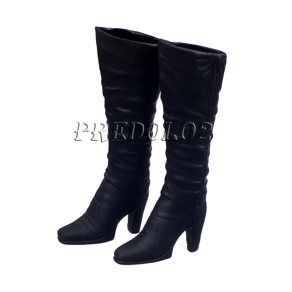 1//6 Scale High-heeled Boots Shoes for 12 inch Female Action Figure Clothing