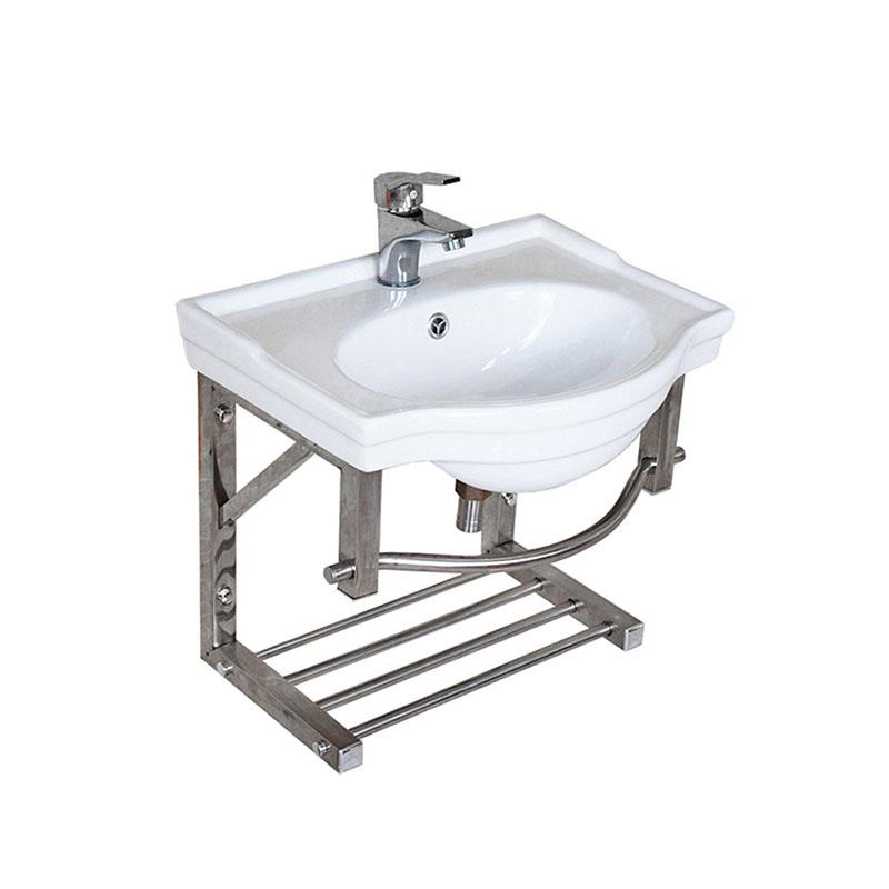 Type Wash Shelf Ceramic Sink Basin, Sinks For Small Bathrooms Wall Mount
