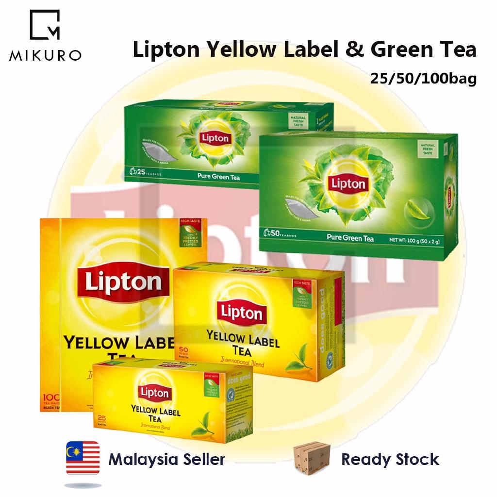 Lipton Green Tea Yellow Label 25bag/50bag/100bag X2g