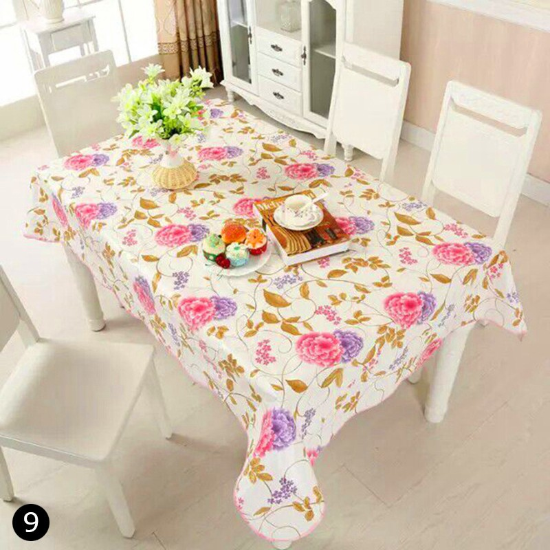 Oil Proof Pvc Table Cloth Cover Kitchen