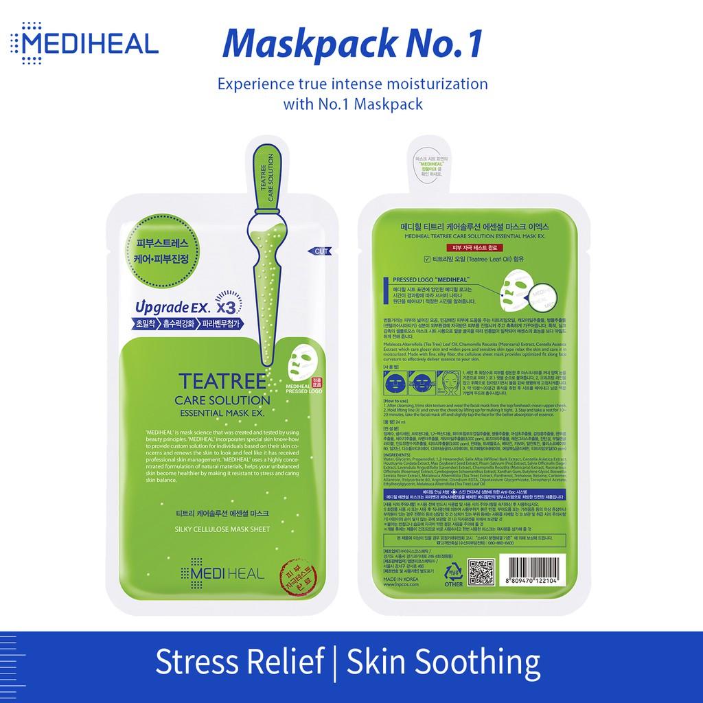 Mediheal Teatree Care Solution Essential Mask x3 Sheets